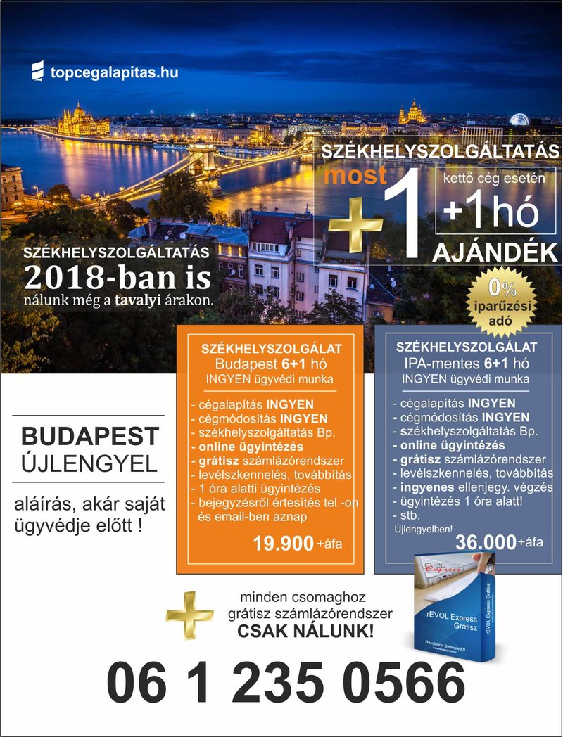 Székhelyszolgáltatás Budapesten és az iparűzési adó mentes helyen Újlengyelben....