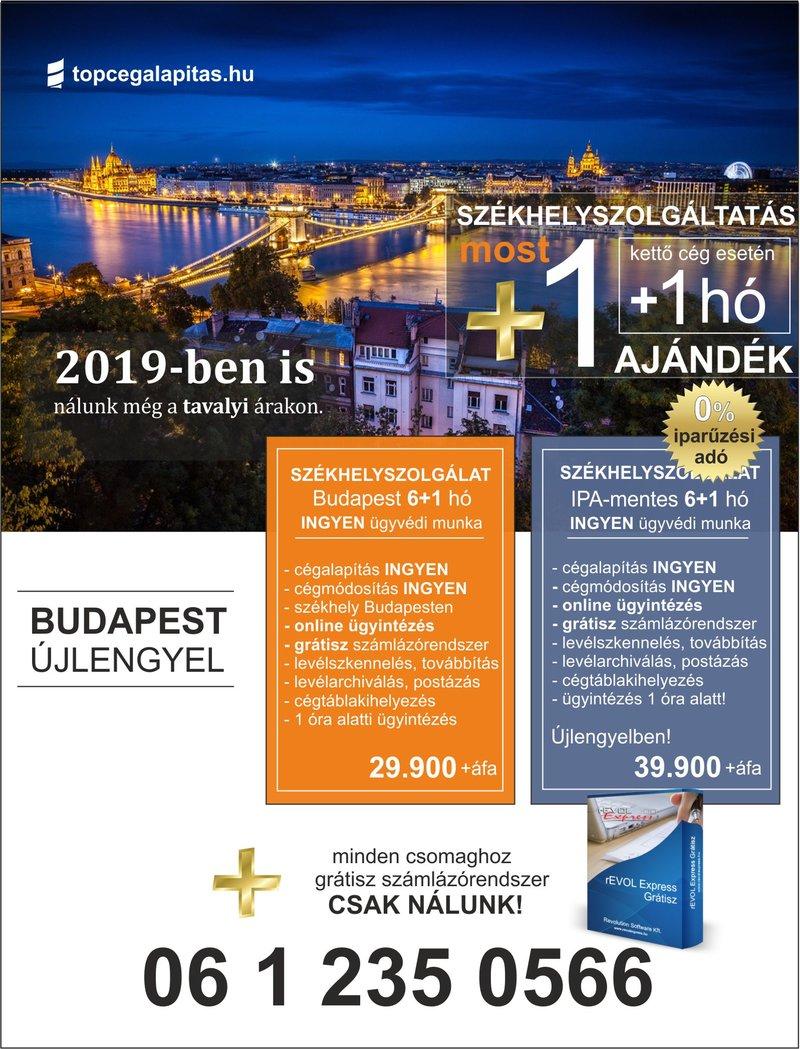 Székhelyszolgáltatás Budapesten és az iparűzési adó mentes helyen Újlengyelben 2019-ben is....