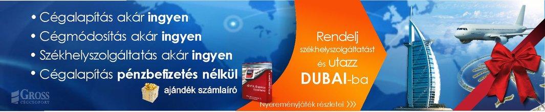 Cégalapítás akár INGYEN, cégmódosítás akár INGYEN, székhelyszolgáltatás akár INGYEN - nyerj székhelyszolgáltatás rendelésével DUBAI-i utat!