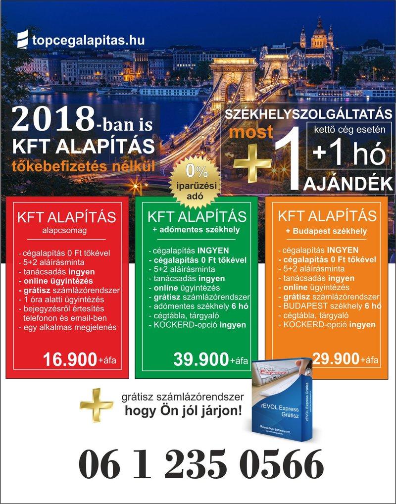 Kft alapítás Budapesten, akár ingyen...