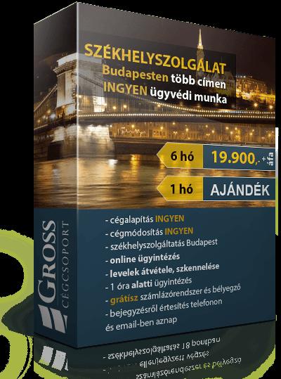 Székhelyszolgáltatás Budapesten, ingyen ügyvédi munkával, +1 hónap ajándékhónappal.